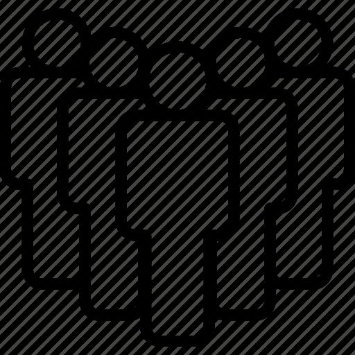 customers, five, group, people, team, teamwork, users icon