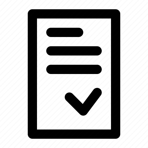 document, letter, paper, sign icon