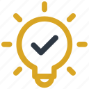 blub, bright, idea, lightbulb, solution icon icon icon