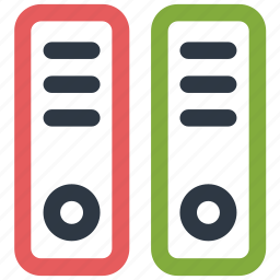 file folders, files, folders, office icon icon