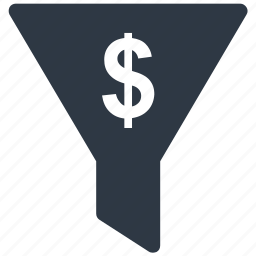 currency, currency filter, dollar sign, filter, money filter icon icon