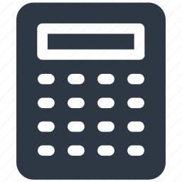 accounting, calc, calculator, finance, math icon icon
