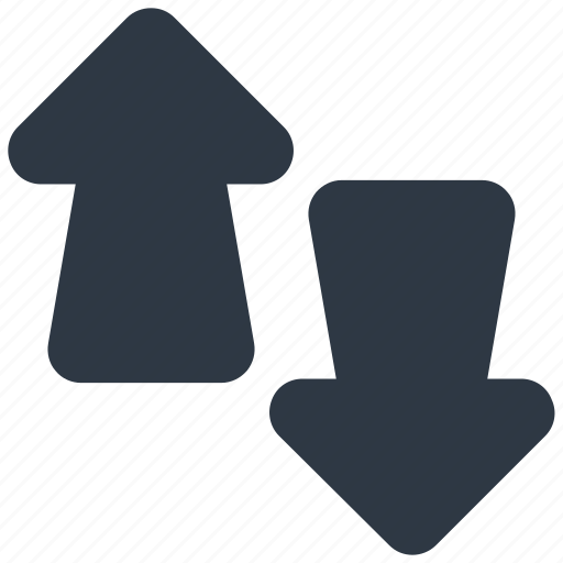 arrows, direction, down, exchange, up icon icon