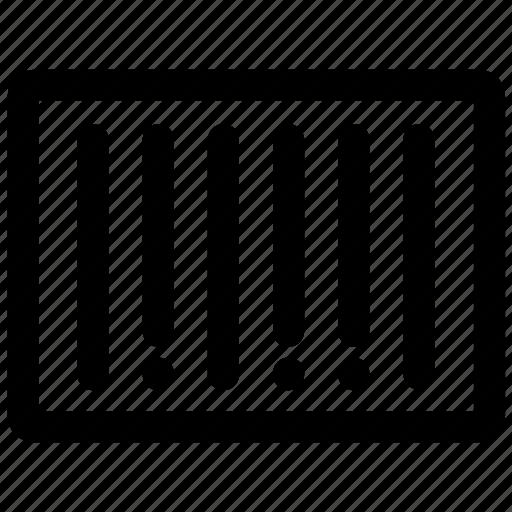 bar, barcode, code icon icon