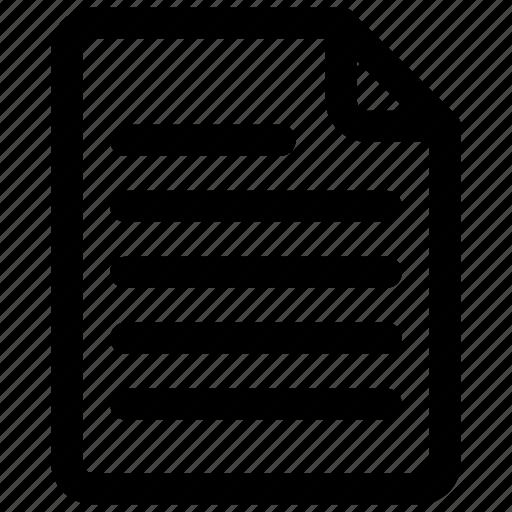document, sheet, text, text sheet icon icon