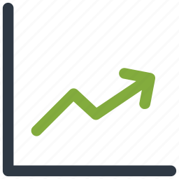 increasing line, profit arrow, profit chart, up icon icon