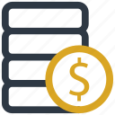 coin, currency, dollar, money icon icon
