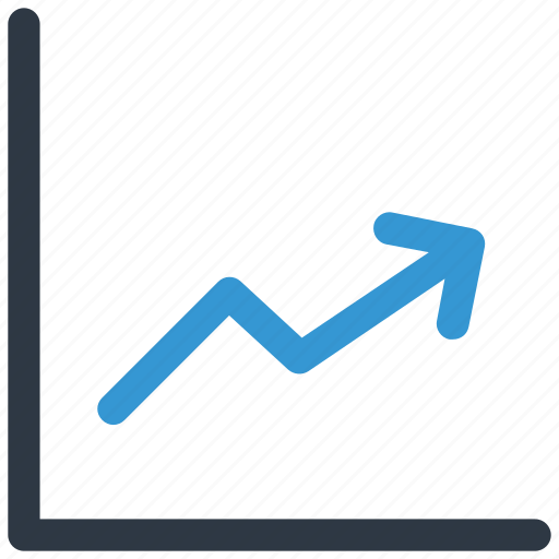 increasing line, profit arrow, profit chart, up icon icon