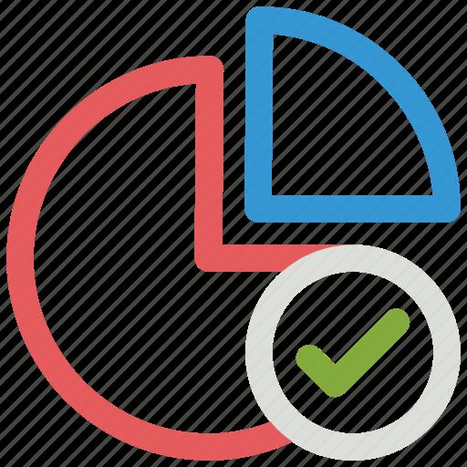 chart, check, circle, mark, pie icon icon