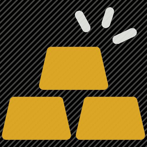 bar, finance, gold, gold bar icon icon