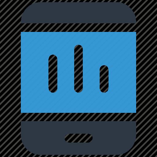 analysis, analytics, mobile, mobilegraph icon icon