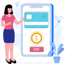 buy, credit card, mobile, pay
