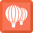 air, balloon, hot, transportation icon