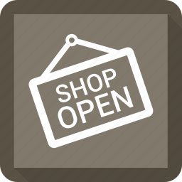 open shop, open sign icon