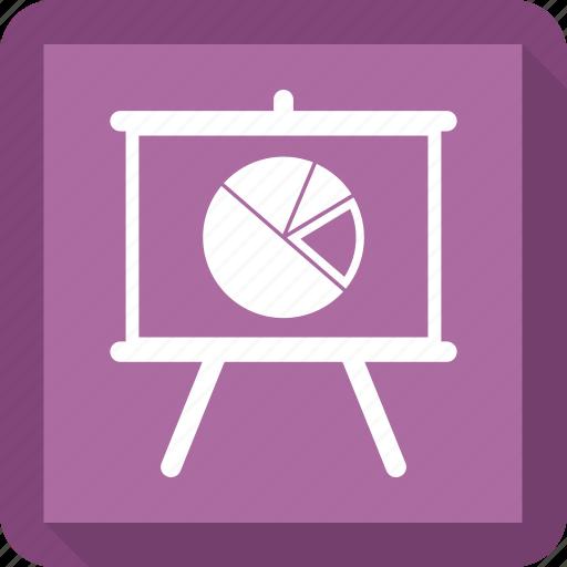 black board, board, pie chart, plank, school icon