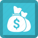 dollar, finance, money, sack icon