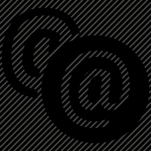 arroba, at sign, at symbol, at the rate, email icon