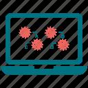 bar, computer, infographic, laptop icon