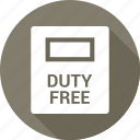 airport, bag, duty, duty free, free, shopping icon