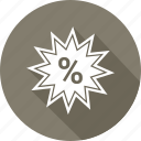 percentage, reduction icon