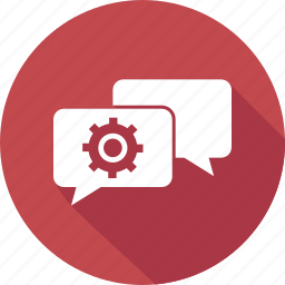chat, dialog, forum, setting, speaking icon