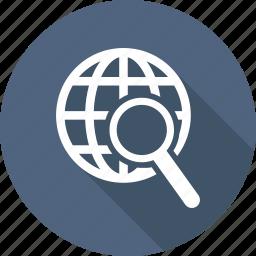 earth, internet, planet, search, web, world icon