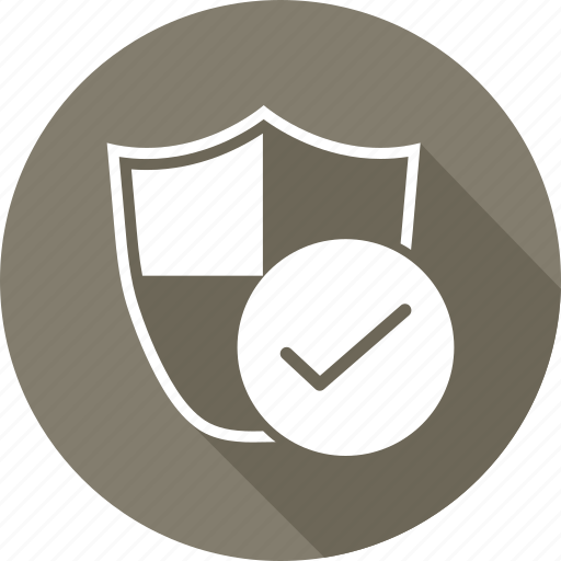 check, security, shape, shield icon