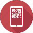 barcode, mobile, parcel tracking, place order, trace parcel icon