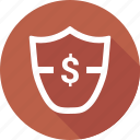 dollar, shield icon