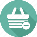 basket, cart, commerce, minus, shopping basket icon