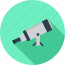 astronomy, optical, refractor, scope, telescope, zoom icon