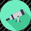 telescope, zoom, optical, scope, astronomy, refractor icon