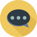 chat, comments, dialogue, message, opinion, support, text icon