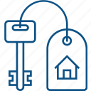 home key, home owner, house dealer, house key, key icon icon