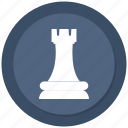 checkmate, chess, strategy, tower icon