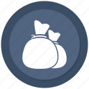 bag of money, coins, money, money bag icon
