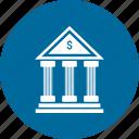 bank, column, forum, guarantor icon
