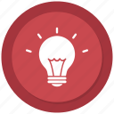 bulb, electric bulb, idea, light, light bulb icon