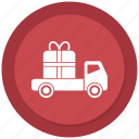 arrival, delivery, gift, shipping icon