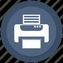 office, paper, print, printer icon