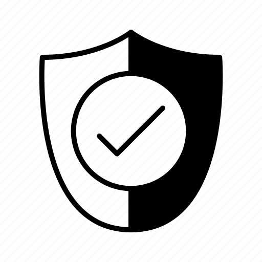 approved, insurance, protection, security, shield icon