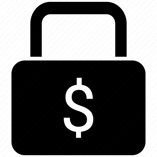 doller, lock, protected, safe, security icon icon