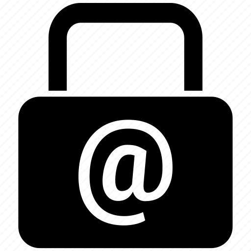 at the rate, lock, protected, safe, security icon icon