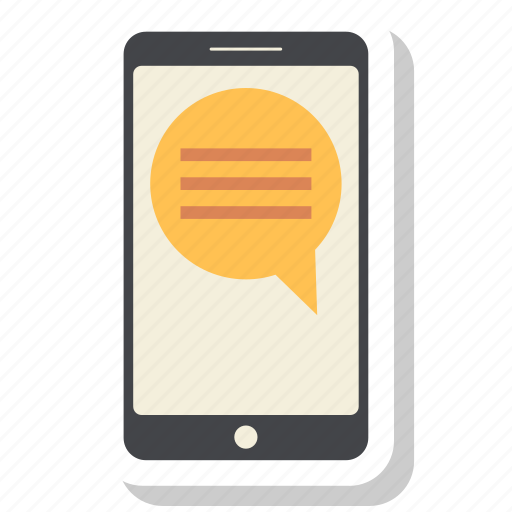 blue, chat, mobile, phone, round icon