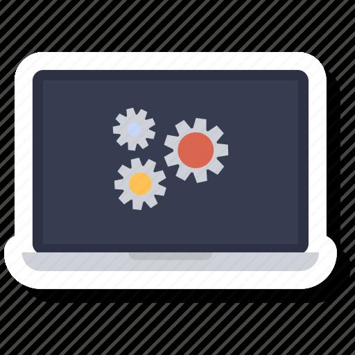 computer, device, laptop, laptop computer, pc, setting icon