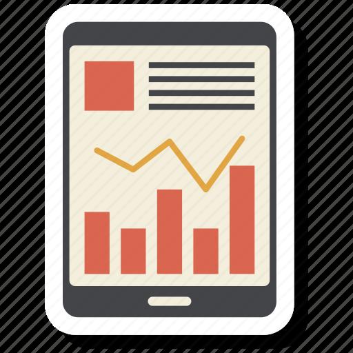 bar, growth bar, infographic, ipad, pc, tablet icon