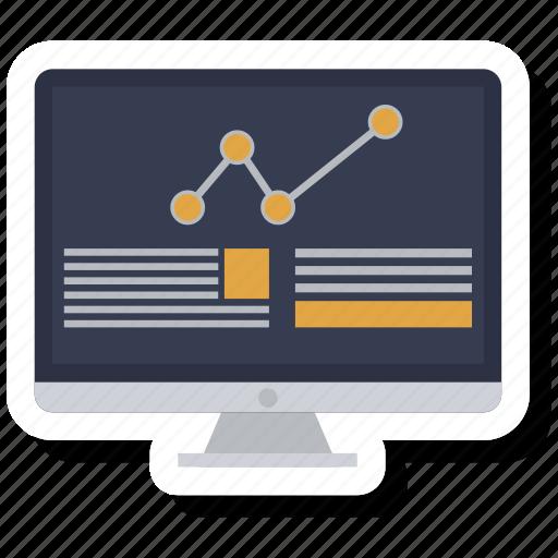 chart, computer, destop, graphic, info, laptop, monitor icon