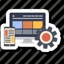 computer, design, responsive, responsive design, setting, web design icon