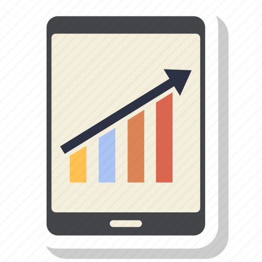 business graph, business growth, graph, growth, mobile, phone icon