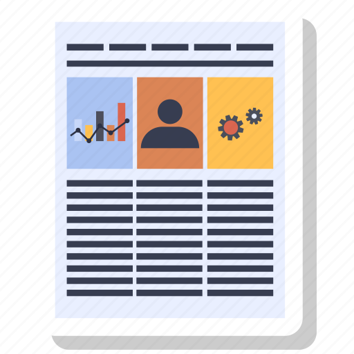 document, news, newspaper, office paper, paper icon